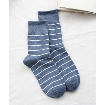 Ulysses / ボーダーソックス WOMEN レッグウェア > ソックス/靴下