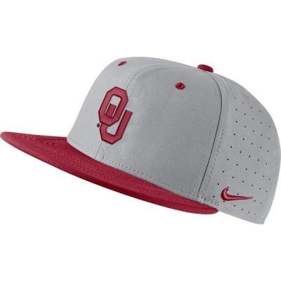ナイキ 帽子 アクセサリー メンズ Nike Men's University of Oklahoma AeroBill Baseball Cap Gray Medium 01