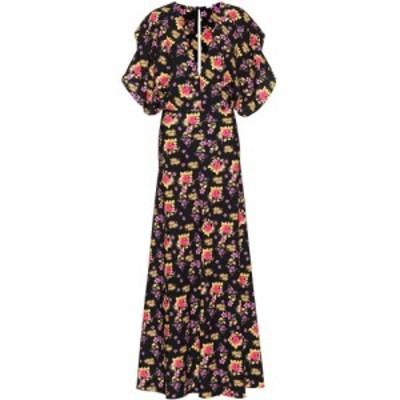ドド バー オア Dodo Bar Or レディース ワンピース ワンピース・ドレス Floral printed jersey maxi dress Black