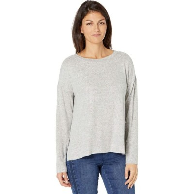 トミー バハマ Tommy Bahama レディース トップス Island Soft Brushed Long Sleeve Top Pearl Grey Heather