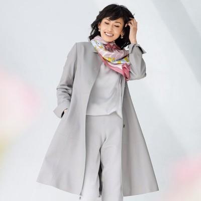ファッション コート スプリングコート 春コート スペイン産ラムレザー ロングコート 216701