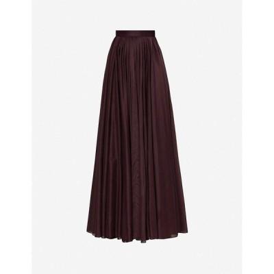 アズディンアライア AZZEDINE ALAIA レディース ロング・マキシ丈スカート スカート Mussola pleated crepe wrap-over skirt BURGUNDY