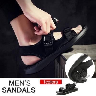 サンダル メンズ ストラップ 靴 シューズ コンフォート アウトドア 街歩き ビーチ リラックス 痛くない 軽量 メンズスリッパ ビーチサンダル