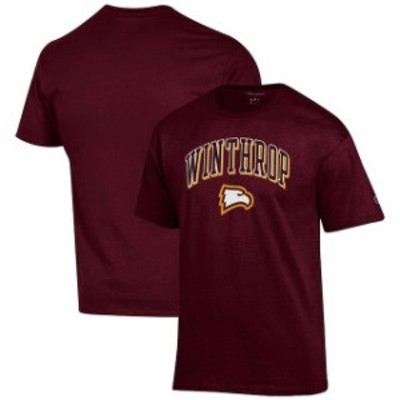 Champion チャンピオン スポーツ用品  Champion Winthrop Eagles Garnet Arch Over Logo T-Shirt
