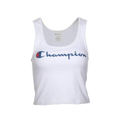 チャンピオン Champion LIFE レディース ベアトップ・チューブトップ・クロップド トップス Chest Script Crop Top White