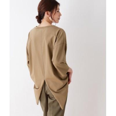 SHOO・LA・RUE / 【M-LL】空紡糸七分袖バックスリットプルオーバー WOMEN トップス > Tシャツ/カットソー