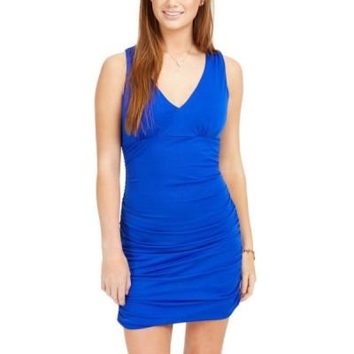 ティーズミー レディース ワンピース トップス Juniors' Ruched Bodycon Dress