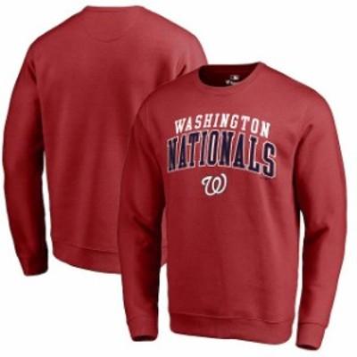 Fanatics Branded ファナティクス ブランド スポーツ用品  Fanatics Branded Washington Nationals Red Square Up Pullover Sweatshirt