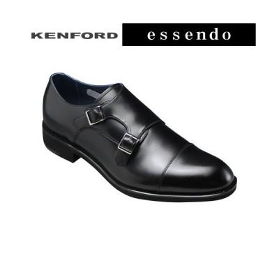 ケンフォード ビジネスシューズ ダブルモンク ストレートチップ ラウンドトゥ KN83 ブラック KENFORD メンズ 靴