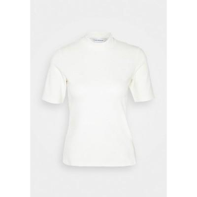 クラブ モナコ Tシャツ レディース トップス MOCK NECK TEE - Basic T-shirt - blanc de blanc
