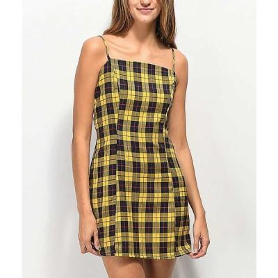ルナチックス LUNACHIX レディース ワンピース ミニ丈 ワンピース・ドレス Lunachix Plaid Yellow & Blue Mini Dress Yellow