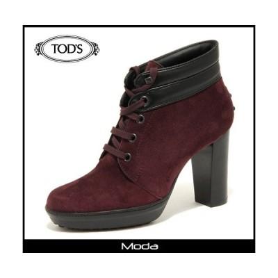 トッズ ブーツ レディース TOD'S 靴 パープルブラック スウェード ショートブーツ