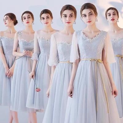 パーティードレス ワンピースドレス 結婚式 ドレス フォーマル花柄 キャバ 大きいサイズ 二次会 入