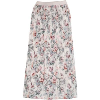 セミクチュール SEMICOUTURE 7分丈スカート ホワイト 42 ポリエステル 100% 7分丈スカート