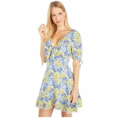 ロストアンドウォーター ワンピース トップス レディース Blossom and Bloom Short Sleeve Mini Dress Blue/Yellow Floral
