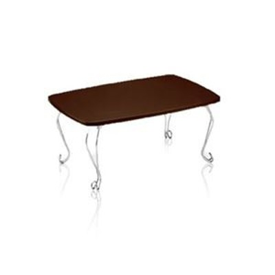 ds-2381206 猫脚テーブル 約幅70×奥行50×高さ35cm ダークブラウン 完成品 (ds2381206)