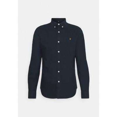 ファーラー シャツ メンズ トップス BREWER - Shirt - navy
