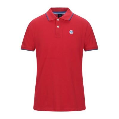 ノースセール NORTH SAILS ポロシャツ レッド S コットン 100% ポロシャツ