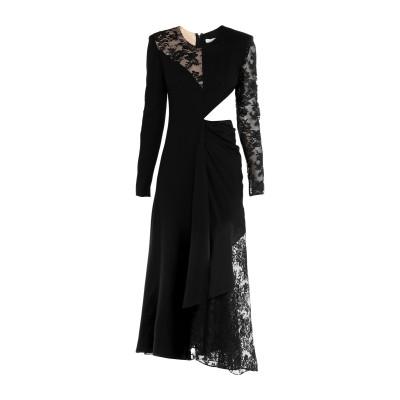 ジバンシィ GIVENCHY 7分丈ワンピース・ドレス ブラック 38 ウール 100% / シルク / コットン / ナイロン 7分丈ワンピース・