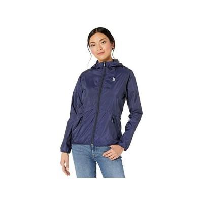 U.S. POLO ASSN. Windbreaker Jacket レディース コート アウター Evening Blue