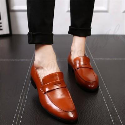 ローファー メンズ ビジネスシューズ革靴 ドライビングシューズカジュアルシューズ 通勤 rose 通学紳士靴 防水 防滑 消臭