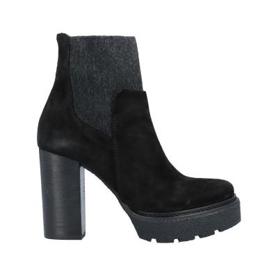 VIC MATIĒ ショートブーツ ブラック 40 革 / 紡績繊維 ショートブーツ