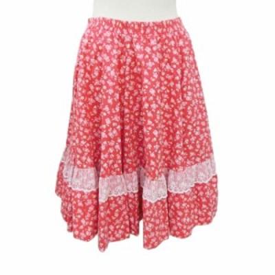 Rockmount ロックマウント「25/27」花柄 レース使い フレア スカート (アメリカ製 Made in USA) 087929【中古】