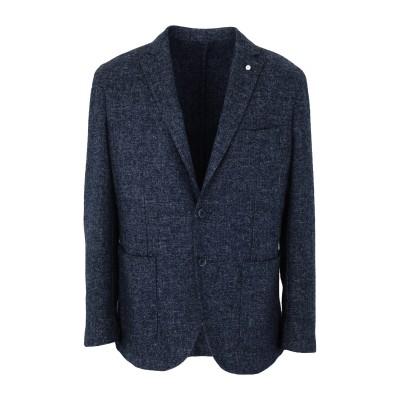 LUIGI BIANCHI ROUGH テーラードジャケット ブルーグレー 50 ウール 60% / ポリエステル 40% テーラードジャケット