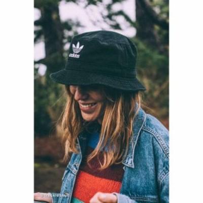 アディダス adidas レディース ハット バケットハット 帽子 originals denim bucket hat Black