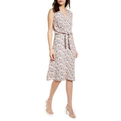 チェルシー28 ワンピース トップス レディース Sleeveless Tie Front Dress Pink Smoke Flower Branches