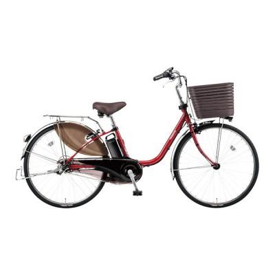 PANASONIC BE-ELD636-R フレアレッドパール ビビ・DX [電動アシスト自転車(26インチ・内装3段)] 電動自転車
