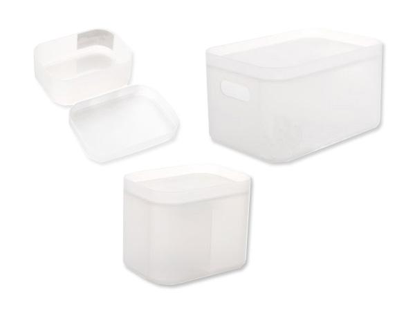 大創新無印風磨砂系列收納盒(大+中+小無格)-磨砂白(1組入)【D556227】