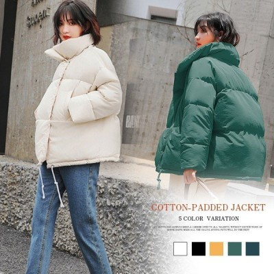 アウターコートショート中綿レディースダウン風可愛いカジュアルあったか冬ジャケット厚手防風、寒軽量お洒落おしゃれ