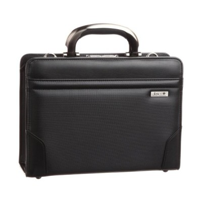 [アイエスプラス] ビジネスバッグ アルミ手ハンドル撥水30cm口枠ダレス 日本製 ブラック