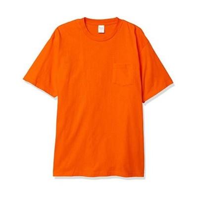 プリントスター 半袖 5.6オンス へヴィー ウェイト ポケット Tシャツ オレンジ 日本 XL (-)