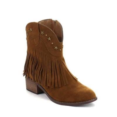 ブーツ シューズ 靴 アドリアナ ベストon DA42 レディース Low ヒール Western スタイル Cowboy Fリングe アンクルブーティーs RUST