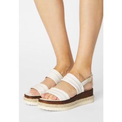 デューンロンドン レディース サンダル KAZZY - Platform sandals - white