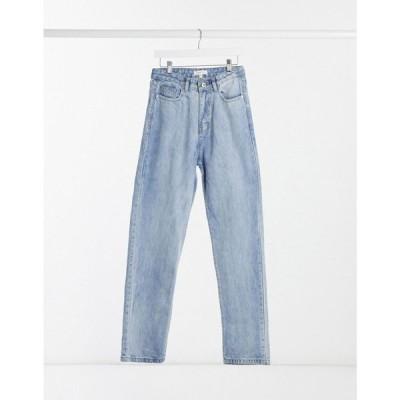フェム リュクス Femme Luxe レディース ジーンズ・デニム ウォッシュ加工 ボトムス・パンツ High Waist Denim Straight Leg Jean In Washed Blue デニムブルー