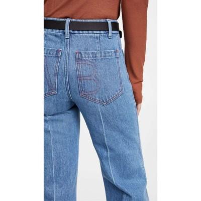 ヴィクトリア ベッカム Victoria Beckham レディース ジーンズ・デニム ハイウエスト ボトムス・パンツ High Waisted Patch Pocket Jeans Allover 70s Wash