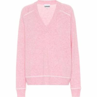ガニー Ganni レディース ニット・セーター トップス Wool-blend sweater Candy Pink