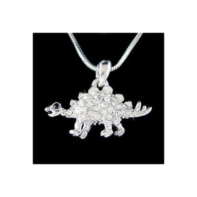 ネックレス インポート スワロフスキ クリスタル ジュエリー ~Stegosaurus Dinosaur~ made with Swarovski Crystal Girls Boys Necklace Xmas Gift