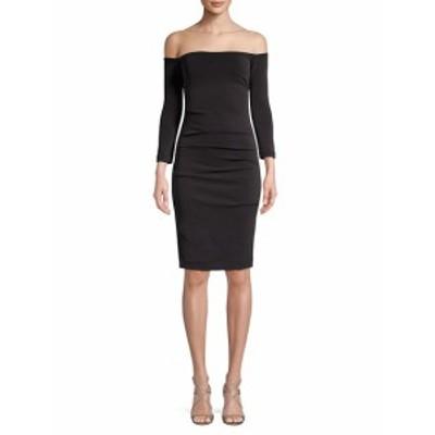 ニコールミラー レディース ワンピース Off-The-Shoulder Sheath Dress