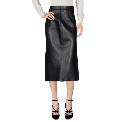 ディースクエアード DSQUARED2 7分丈スカート ブラック 38 羊類革 100% 7分丈スカート