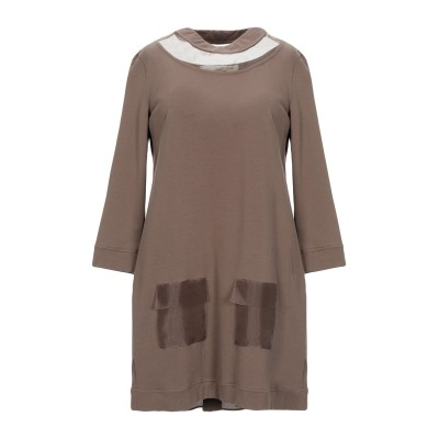 ELISABETTA FRANCHI JEANS ミニワンピース&ドレス ミリタリーグリーン 42 コットン 95% / ポリウレタン 5% / ポ