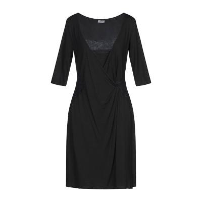 MORE by SISTE'S ミニワンピース&ドレス ブラック M レーヨン 94% / ポリウレタン 6% ミニワンピース&ドレス