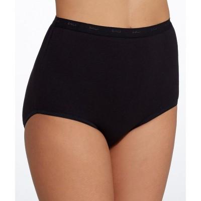 バリ Bali レディース ショーツのみ インナー・下着 Full Cut Fit Cotton Brief Black