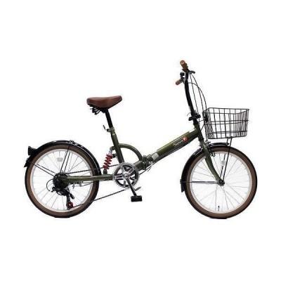 TOP ONE FS206LL-37-OL オリーブ 折りたたみ自転車(20インチ・6段変速) メーカー直送