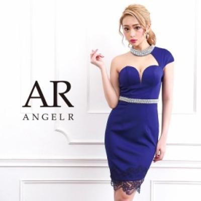 Angel R エンジェルアール ドレス キャバ ドレス キャバドレス エンジェル アール ドレス オーロラビジューアシンメトリースリーブタイト