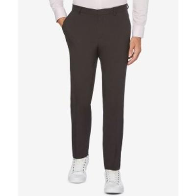 ペリーエリス メンズ カジュアルパンツ ボトムス Extra Slim-Fit Solid Water Repellent Men's Dress Pants Charcoal