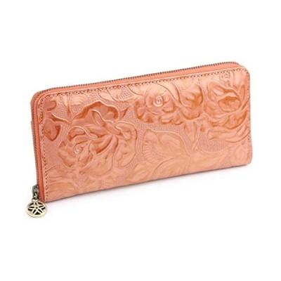 [サクラ] SACURA 日本製 エナメル牛革 ラウンドファスナー長財布 「PELAGIUM」 (オレンジ)